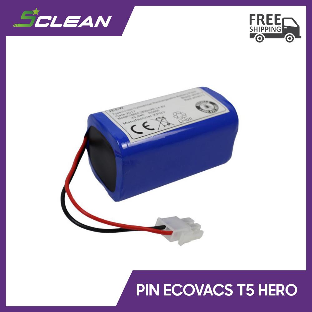 Pin robot hút bụi lau nhà Ecovacs T5 Hero