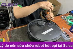 [Góc sửa chữa] Robot hút bụi lau nhà hỏng chổi cạnh